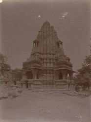 General view of Linga temple of the Chandella period, Bharauli, Jhansi District. 1003732